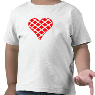 Red Crosshatch Heart T-shirts