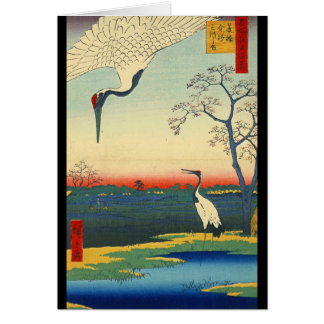 Red Crowned Cranes 1857 Card