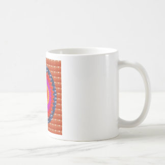 RED Crystal Stone  :ANCIENT Pyramid TEMPLE  WALL Coffee Mug