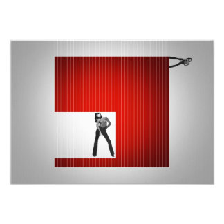 Red Cube Photo Print