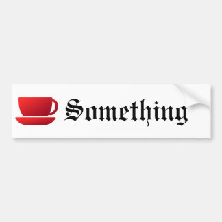 Red Cup and Saucer Bumper Sticker