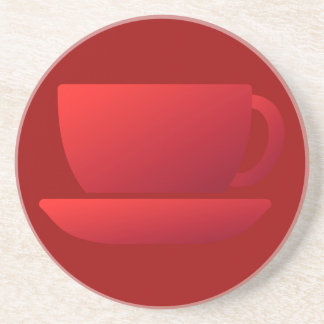 Red Cup and Saucer Coasters