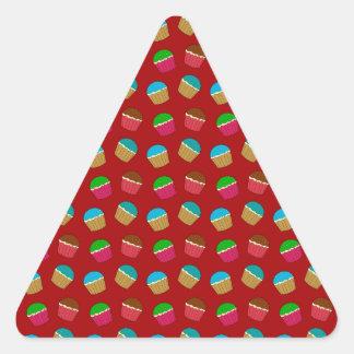 Red cupcake pattern sticker
