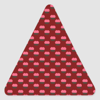 Red cupcake pattern stickers