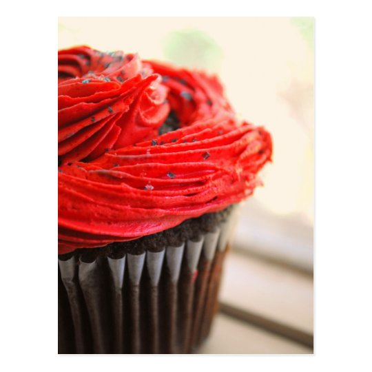 Red Cupcake Photograph Post Card