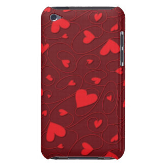 Red curly hearts iPod touch covers