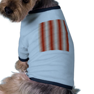 Red Curly Stripes Pet Shirt