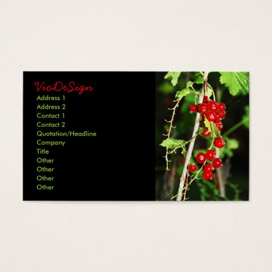 red currant business card