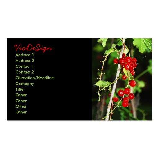 red currant pack of standard business cards