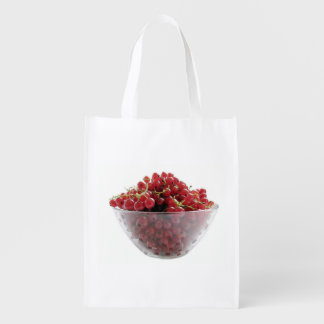 red currants reusable grocery bag