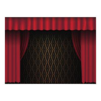 Red Curtain 14 Cm X 19 Cm Invitation Card
