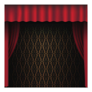 Red Curtain Card