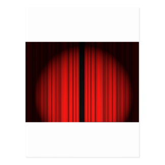 Red Curtain Postcard