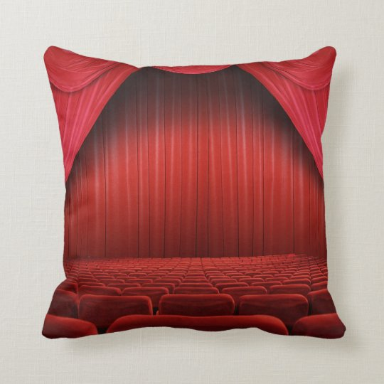 Red Curtain Theatre Throw Couch Pillow