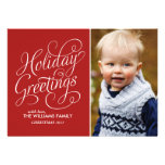 Red Custom Holiday Cards Invitations