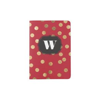 Red Custom Monogram Passport Cover