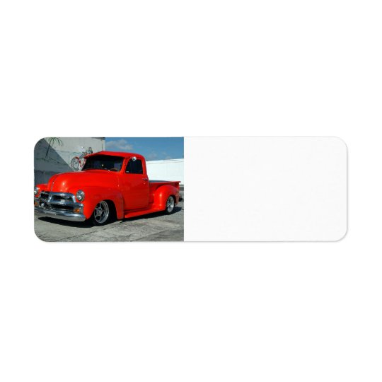 Red Customised Pickup Truck
