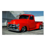 Red Customised Pickup Truck Pack Of Standard Business Cards