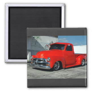 Red customized Pickup Truck Magnet