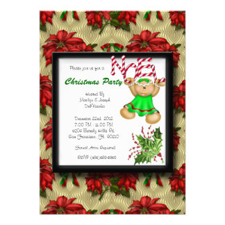 RED CUTE Christmas Party Noel Holiday Invitations