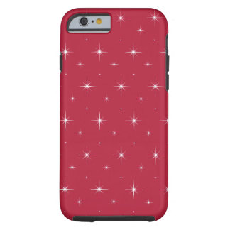 Red Cyclamen And Bright Stars Elegant Pattern Tough iPhone 6 Case