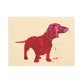 Red Dachshund Doormat