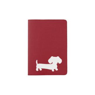 Red Dachshund Wiener Dog Passport Cover Travel