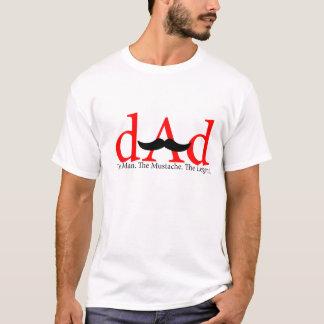 Red Dad Mustache Shirt