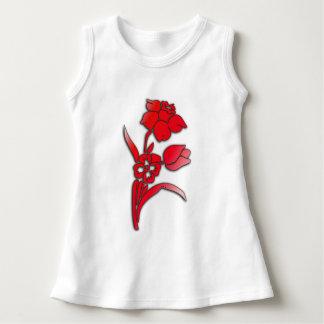 Red Daffodil Sweet Girls Dress