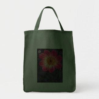 Red Dahlia Canvas Bags