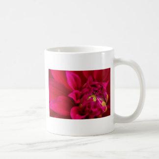 Red Dahlia Basic White Mug
