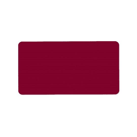 Red Dahlia Brick Maroon Burgundy 2015 Colour Trend Address Label