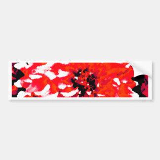 Red Dahlia Bumper Sticker