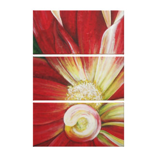 Red Dahlia Gallery Wrapped Canvas
