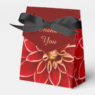Red Dahlia Favour Box