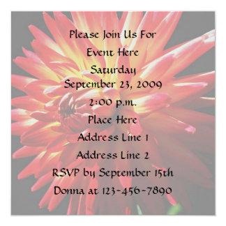 Red Dahlia Floral Elegant Invitation