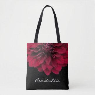 Red Dahlia Floral Florist's Flower Tote Bag