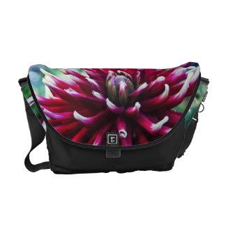 Red Dahlia flowe Courier Bag