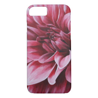 Red Dahlia Flower iPhone 7 Case