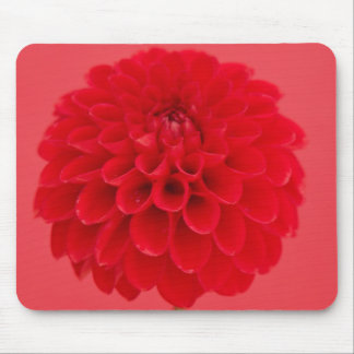 red dahlia mouse mat