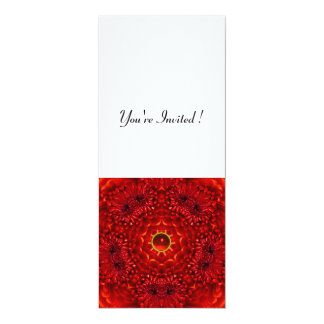 RED DAHLIA, RUBY,   bright  black white Custom Invites