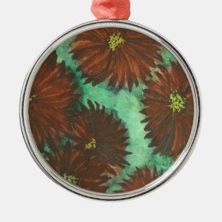Red Dahlias Christmas Ornament