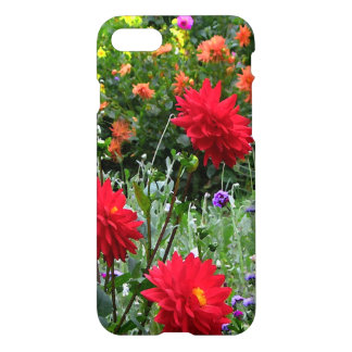 Red Dahlias Flower Garden Floral iPhone 7 Case