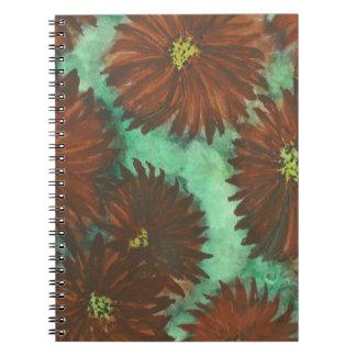 Red Dahlias Notebook