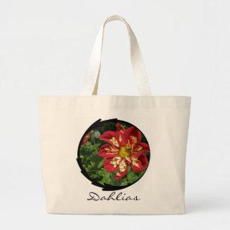 Red Dahlias Jumbo Tote Bag