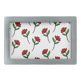 Red Daisies Belt Buckles