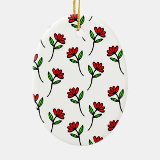 Red Daisies Christmas Ornament
