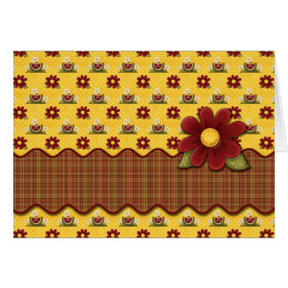 Red Daisies Flower Garden Note Cards Greeting Cards