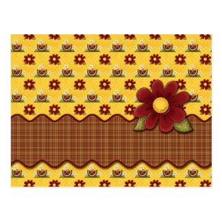 Red Daisies Flower Garden Postcard Post Cards