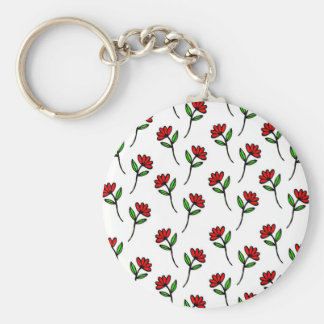 Red Daisies Key Ring